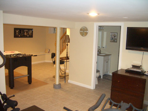 Design Build Basement Renovation Glen Ridge New Jersey (NJ)